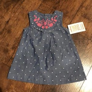 3/$15🔺NWT newborn chambray dress